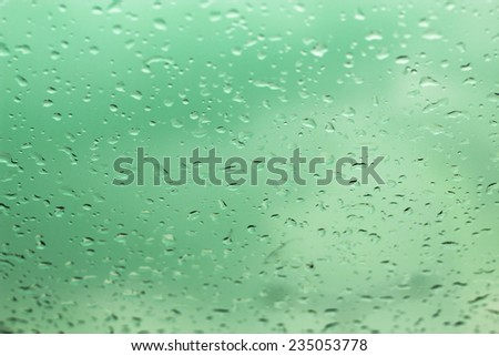 water drops on glass for background - stock photo
