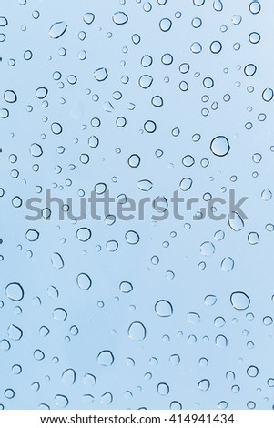 Water drops on glass skylight, texture background. - stock photo