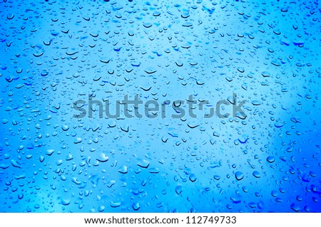 Water drops on metal surface. Abstract background
