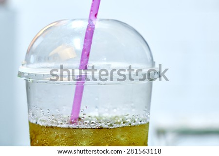 Water Drops on plastic cup