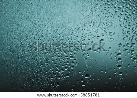 water drops on the glass texture - stock photo