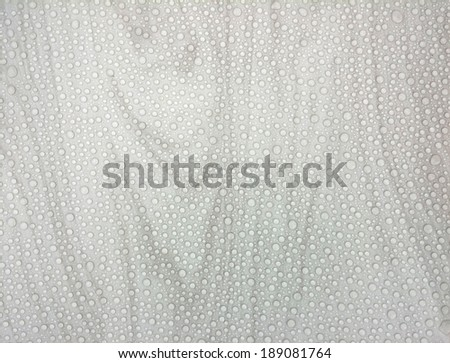 Water drops on the white marble. (High.Res) - stock photo