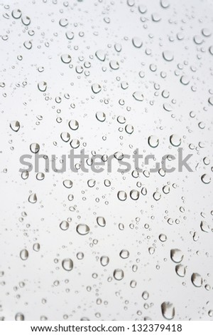 Water drops on the window. Abstract background. Shallow DOF.