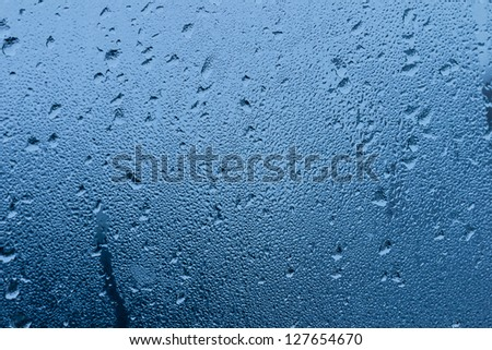 water drops on window background - stock photo
