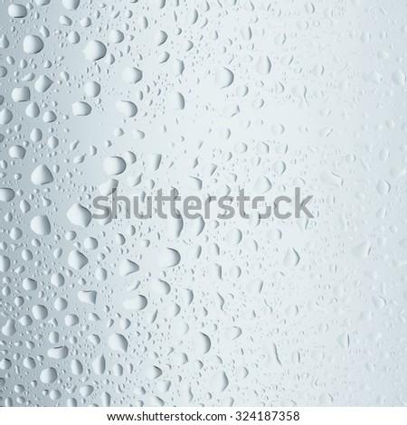 Water Drops./Water Drops. - stock photo