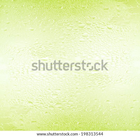water drops water drops on green background. - stock photo