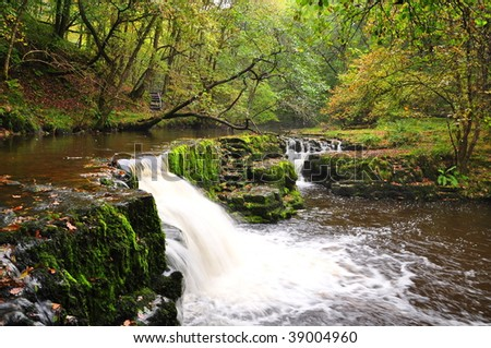 Water Fall in Brecon Beacons - stock photo