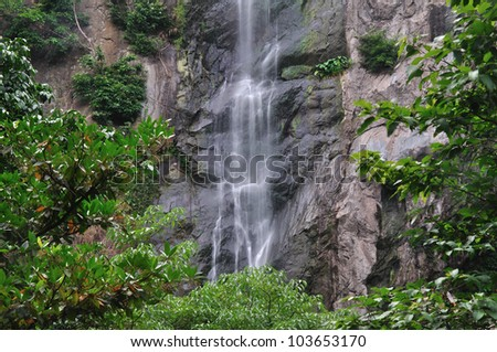 Water fall in deep forest,Thailand. - stock photo