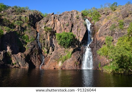 water fall in Litchfield park in Australia - stock photo