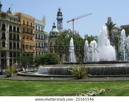 Water fall , Valencia - stock photo