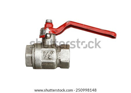 water faucet - plumbing material - stock photo