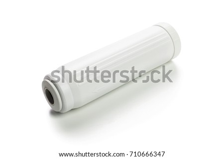 water filter cartridges isolated on white background