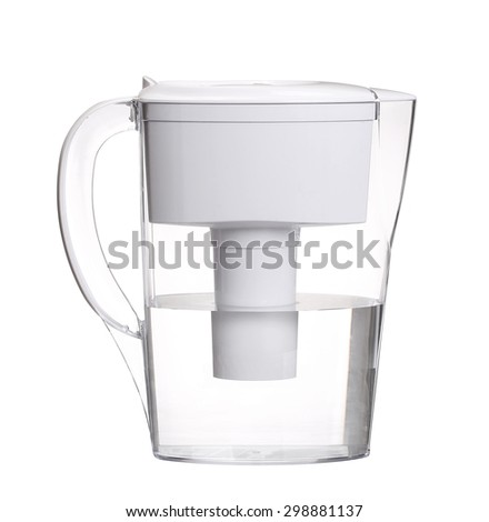 water filter jug isolated on white background