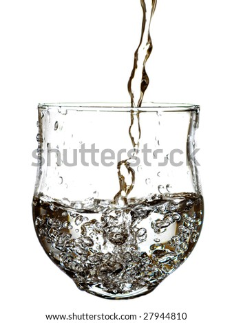 water flow in glass