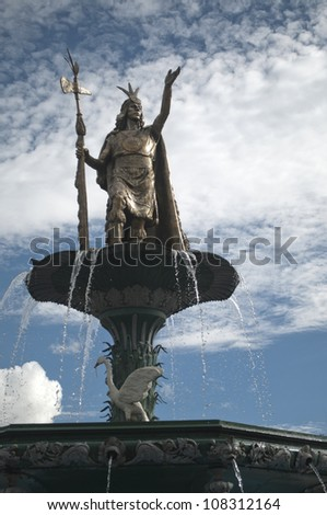 Water Fountain with Statue, Peru