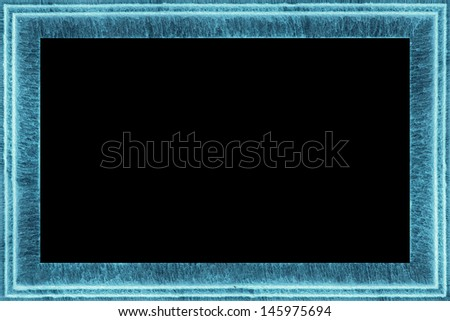 water frame, made of detailed, short exposure, flowing waterfall steps that seamlessly are connected at the corners - stock photo