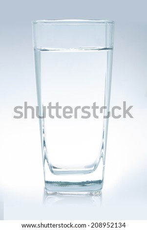 water glass , file includes a excellent clipping path - stock photo