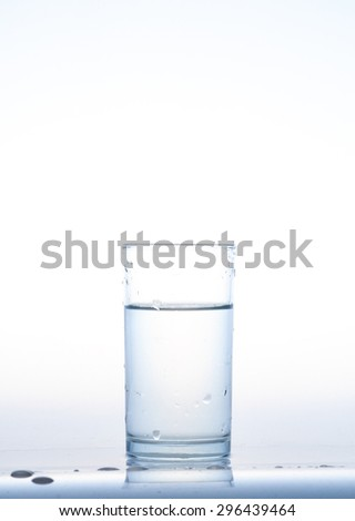 water glass, Glass with water, Glass of water - stock photo