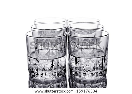 Water glass. Isolated on white background. - stock photo