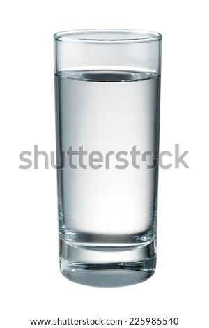Water glass isolated. With clipping path - stock photo