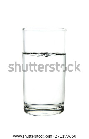 water glass on white backgound