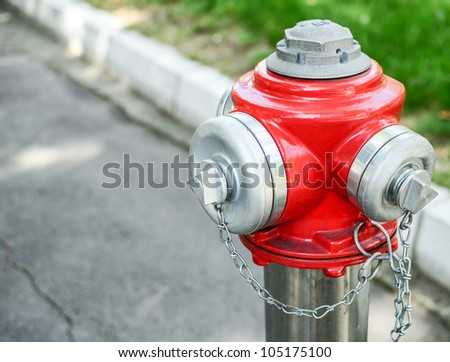 Water hydrant on street - stock photo