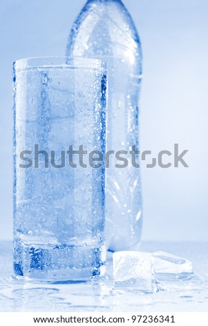 Water in a glass - stock photo