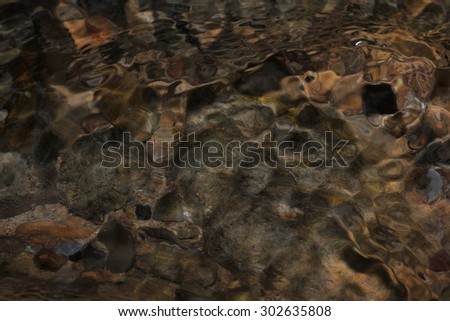 Water in a stream - stock photo