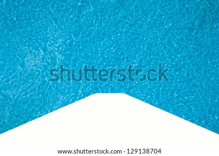 Water in swimming pool - stock photo