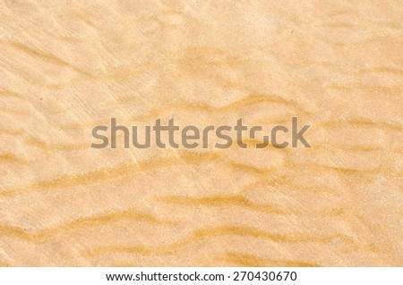water is blur on the sand
