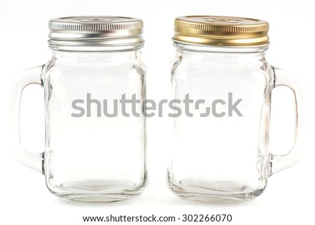 Water jar isolated on white. With clipping path