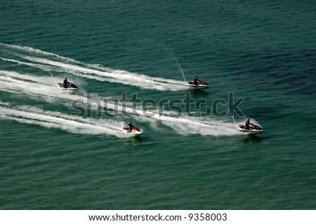 Water jet - stock photo