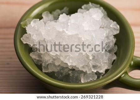 Water kefir grains - stock photo
