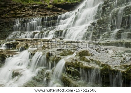 Water level at the falls - stock photo
