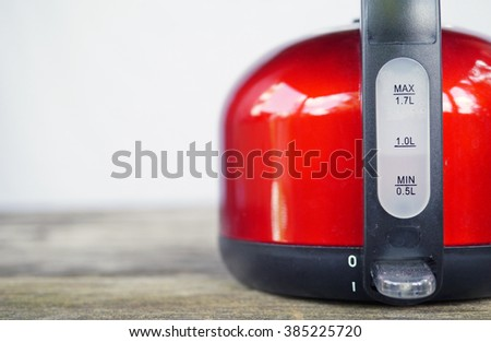 water level gauge on an electric water heater. shallow depth of field.  - stock photo