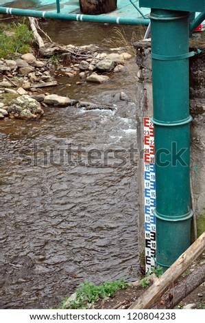 Water level indicator - stock photo
