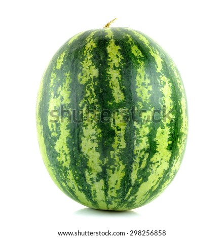 Water melon isolated on the white background. - stock photo