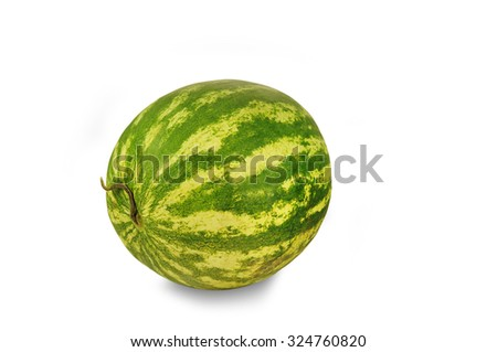 Water-melon isolated on white