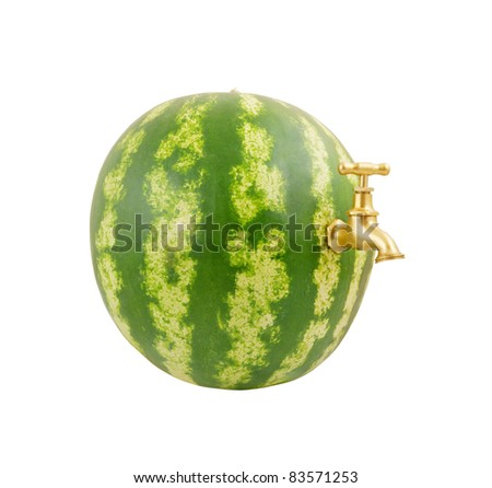 Nice Watermelon Isolated On White Clipping Stock Photo 60169744 ...