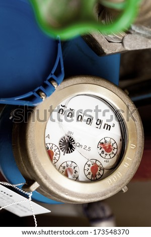 water meter - stock photo