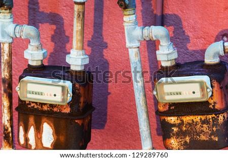 water meters - stock photo
