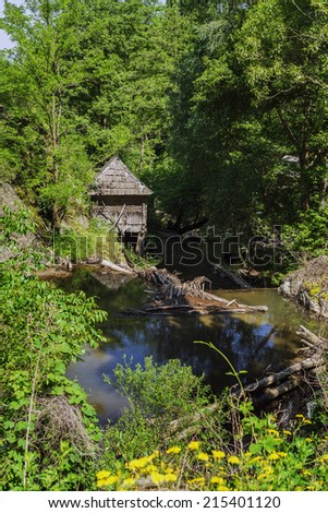 Water Mill Park from romanian village Eftimie Murgu situated on the shore of river Rudaria.