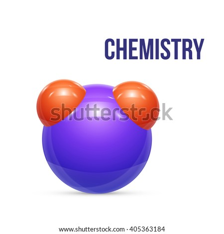 water molecules isolated on white. illustration - stock photo