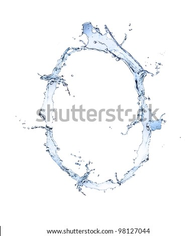 "Water number ""0"" isolated on white background"
