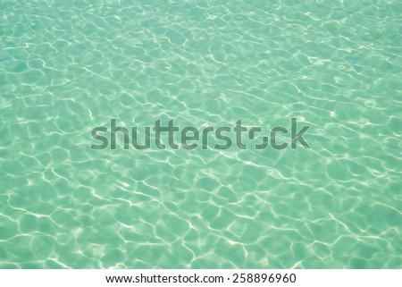 Water ocean background. Clear blue ripple aqua texture - stock photo