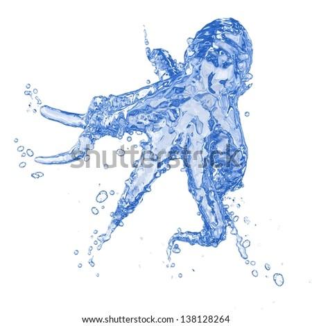 Water Octopus - stock photo