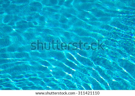 Water on a tiled swimming pool background