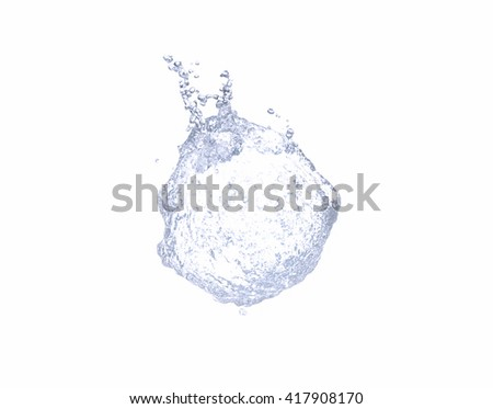 Water on white background  - stock photo