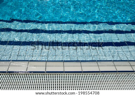water outdoor pools - stock photo