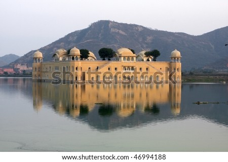 Water palace - stock photo